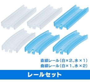 Rail Set - Blue and Clear 3 str 3 curves