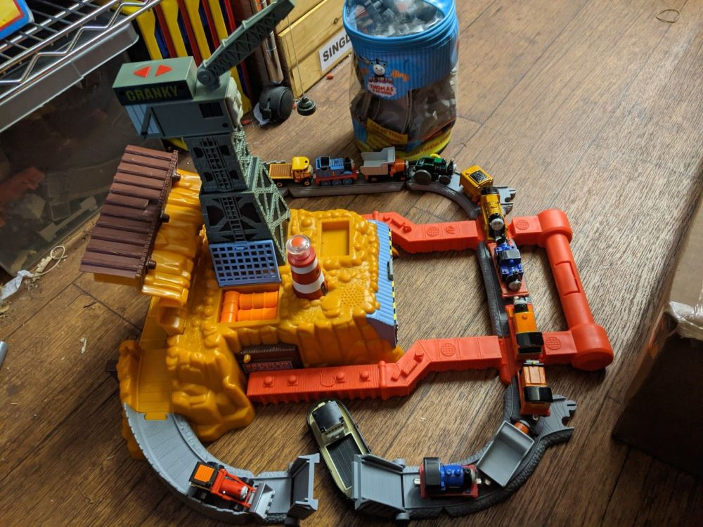 Electronic Portable Cranky at the Docks Playset and lots more
