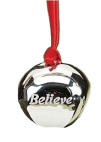 Polar Express Tree Ornament - Believe Bell   - Roman Inc