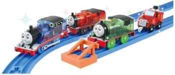 Thomas & Friends 75th Anniversary Glitter Sodor Island Set