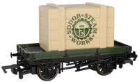 1 Plank Wagon with Sodor Steam Works Crate