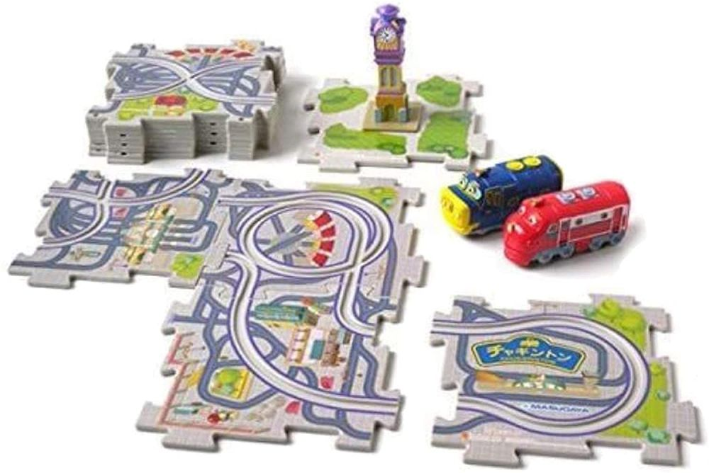 Starter Set with Brewster , Wilson and Clock Tower - Chuggington Puzzle Town