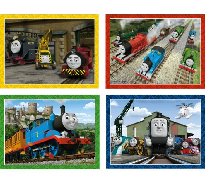 Thomas & Friends 4 in a Box Puzzles in Borders (12, 16, 20 & 24 pce) - Ravensberger