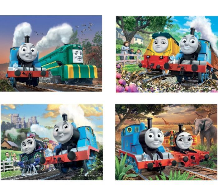 Thomas & Friends 4 in a Box Puzzles - Big World (12, 16, 20 & 24 pce)- Ravensberger