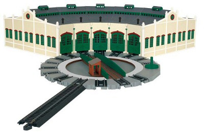 TIDMOUTH SHEDS WITH MANUALLY OPERATED TURNTABLE