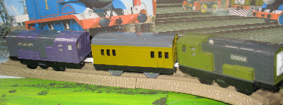 DODGE AND SPLATTER -TOMY THOMAS AND FRIENDS / TRACKMASTER