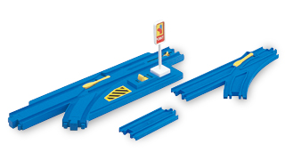 TOMY PLA-RAIL AUTO TURNOUT RAIL