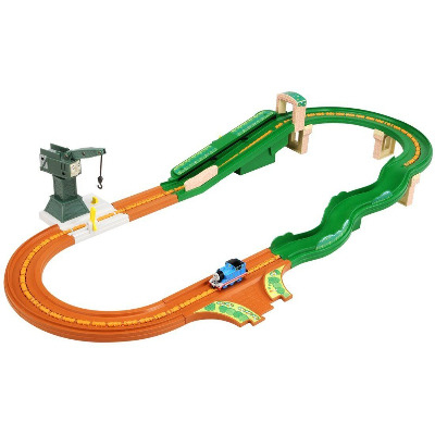 Thomas and Cranky Moving Railroad Set - Tomica Diecast