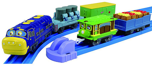 Brewster and Zephie with Freight Cars - Chuggington Plarail