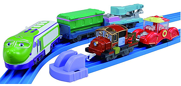 Koko and Hodge with Freight Cars - Chuggington Plarail