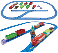 Wilson and Calley with Freight Cars - Chuggington Plarail
