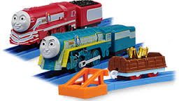 King of the Railway Set - Connor and Caitlin - Thomas Plarail