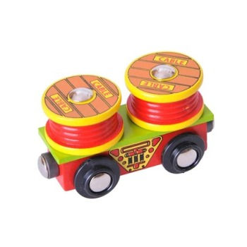Cable Rolls Wagon - BigJigs Rail