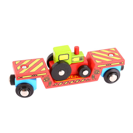 Tractor Low Loader - BigJigs Rail