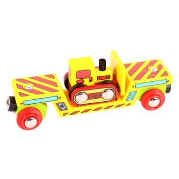 Bulldozer Low Loader - BigJigs Rail