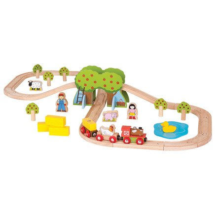 Farm Train Set - BigJigs Rail