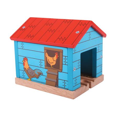 Farm Chicken Shed Tunnel - BigJigs Rail