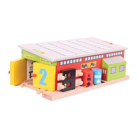 Train Service Shed - BigJigs Rail