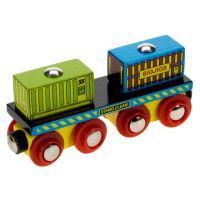 Containers Wagon - BigJigs Rail