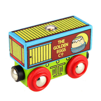 Golden Egg Company Wagon - BigJigs Rail