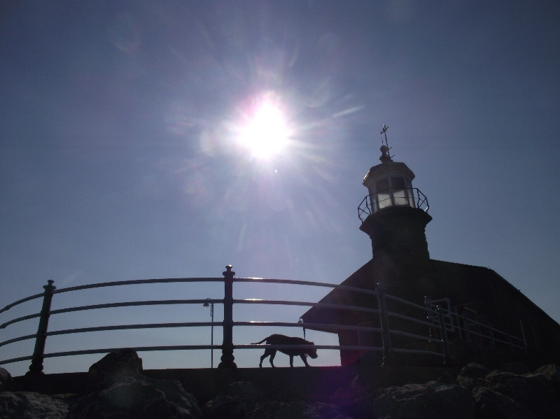 Stone-Jetty-Morecambe-silhouette-By-The-Wimslow-Bed-and-Breakfast