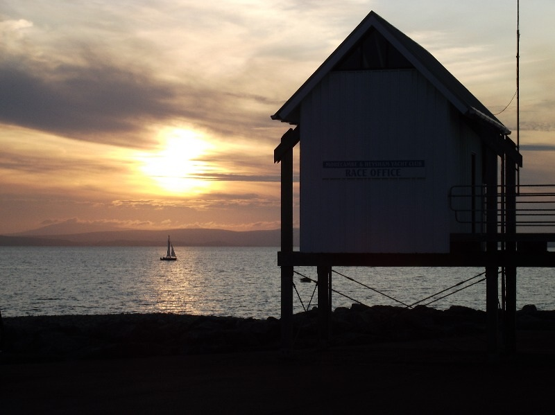 sunset-yacht-race-hut-Morecambe-by-The-Wimslow-Bed-and-Breakfast