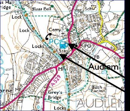 Audlem Map