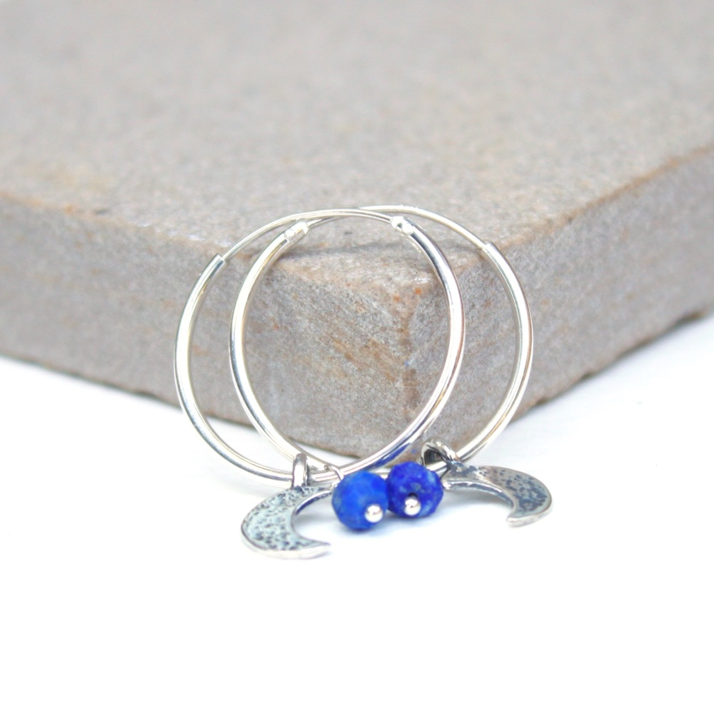 Moon and leaf hoops