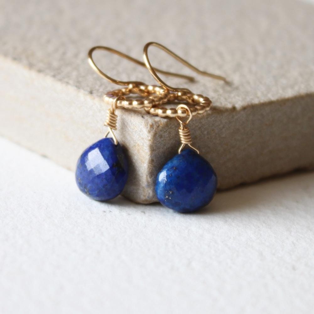 <!-- 09 -->Amelia Lapis earrings