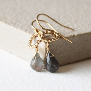 Amelia Labradorite earrings