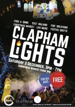 SoLo Craft Fair Clapham Xmas Lights