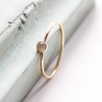 <!-- 1 -->Aquamarine gold stacking ring