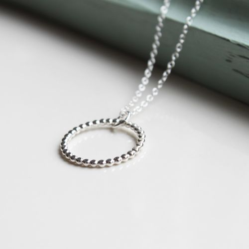 <!-- 003 -->Infinity silver necklace
