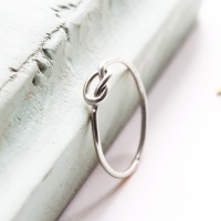 <!--3-->A Forget me knot silver ring