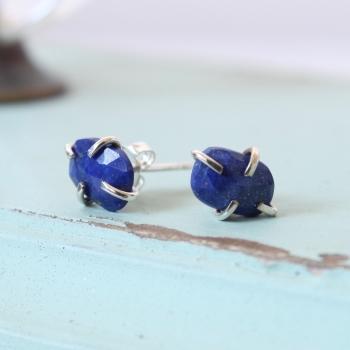 Lapis lazuli claw studs