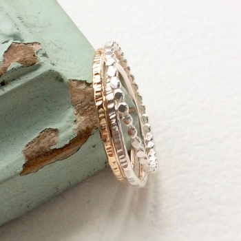 Trio stacking ring set