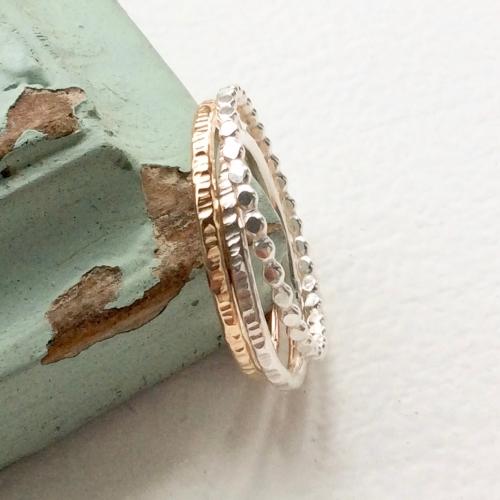 Trio stacking ring set