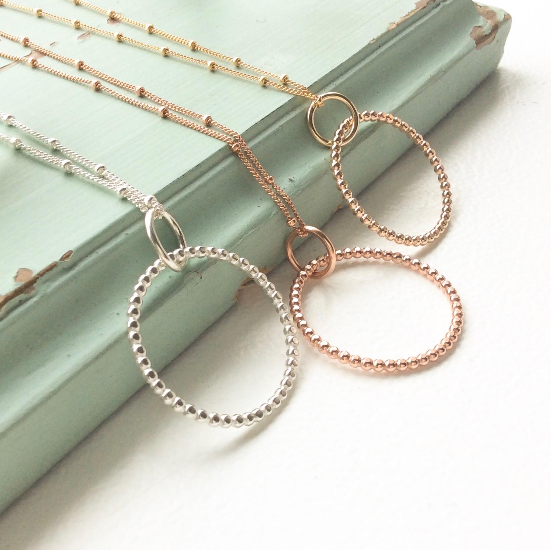 Hexagon trio necklace