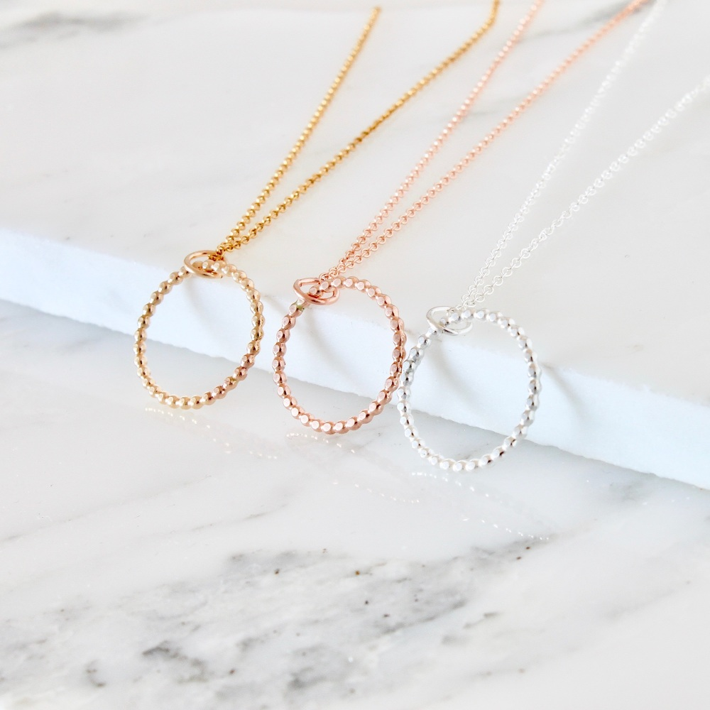 <!--03-->Infinity gold fill necklace
