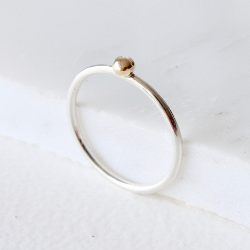 <!--7-->Silver and gold ring