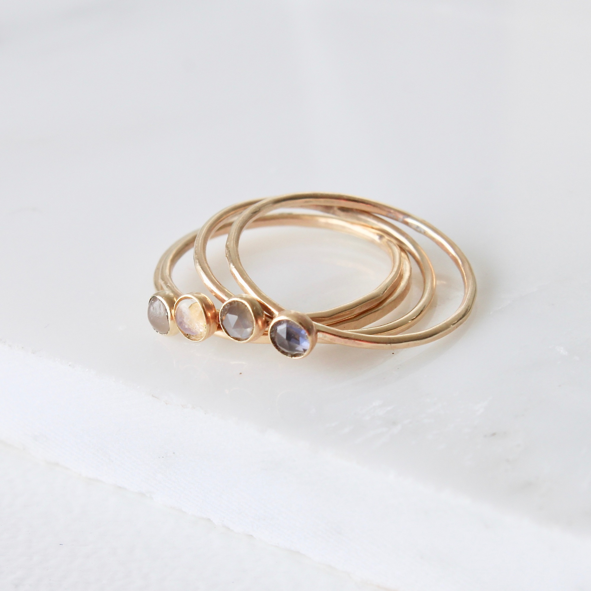 9ct gold thin rings