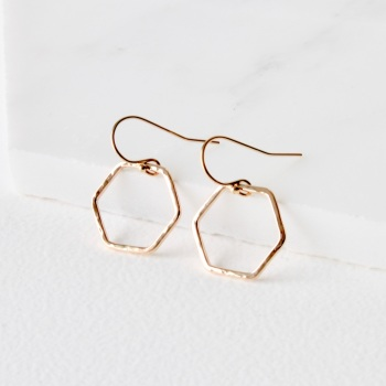 'Simples' hexagon ring earrings