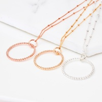 <!--2-->Infinity long necklace