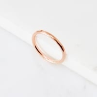 <!--6-->Rose Gold fill Hammered Stacking Ring