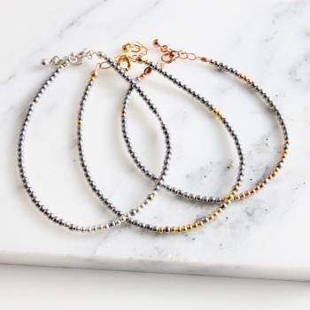 Block bead bracelet