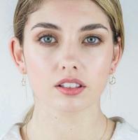 Moon and Star Threader Earrings