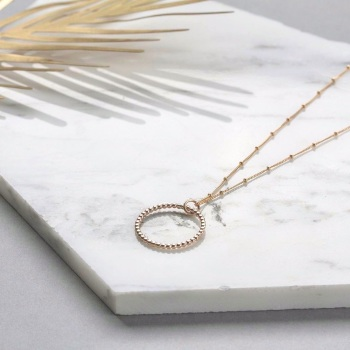 Infinity long necklace