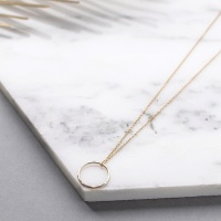 <!--001-->Hammered ring necklace