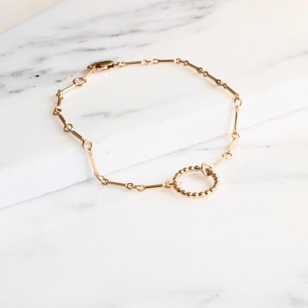 Bead ring bracelet