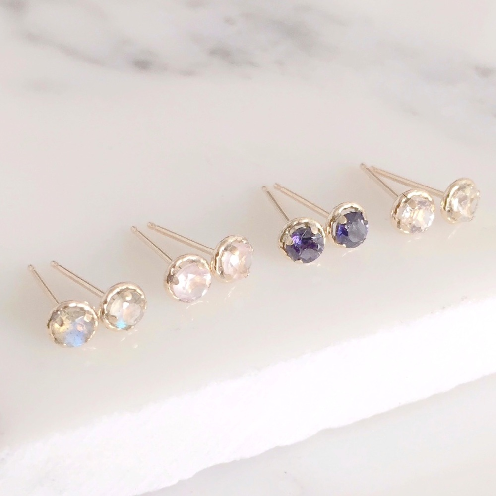 <!-- 001 -->9ct gold tiny gemstone studs
